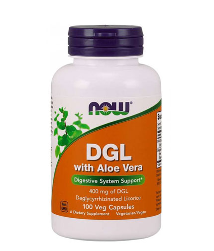 NOW DGL 400 mg with Aloe Vera / 100 Vcaps