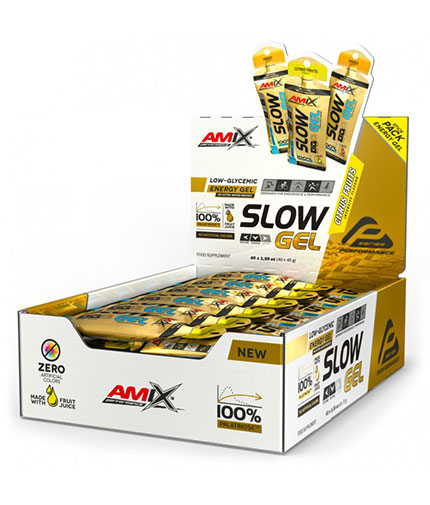 AMIX SLOW Palatinose™ Gel Box / 40x45g
