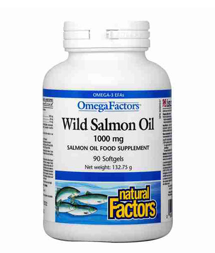 NATURAL FACTORS Wild Salmon Oil 1000mg / 90 Softgels