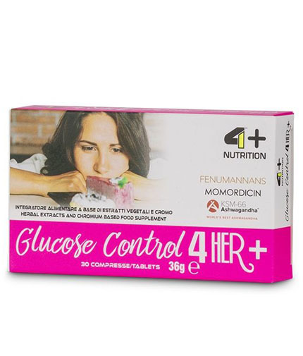 4+ NUTRITION Glucose Control 4 Her + / 30 Tabs