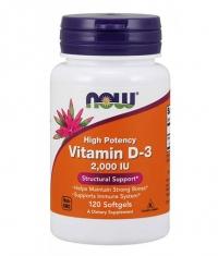 NOW Vitamin D-3 / 2000 IU / 120 Softgels