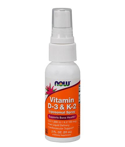 NOW Vitamin D-3 & K-2 / 59ml