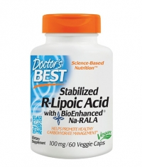 DOCTOR'S BEST Stabilized R-Lipoic Acid 100mg / 60 Vcaps