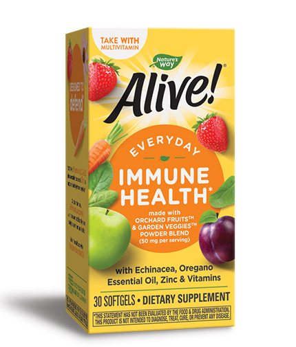 NATURES WAY Alive! Everyday Immune Health / 30 Softgels