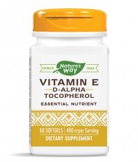 NATURES WAY Vitamin E D-Alpha Tocopherol / 60 Softgels