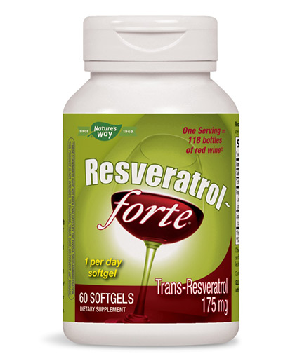 NATURES WAY Resveratrol Forte / 60 Softgels