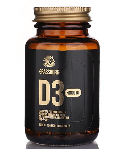 GRASSBERG Vitamin D3 4000 IU / 90 Softgels
