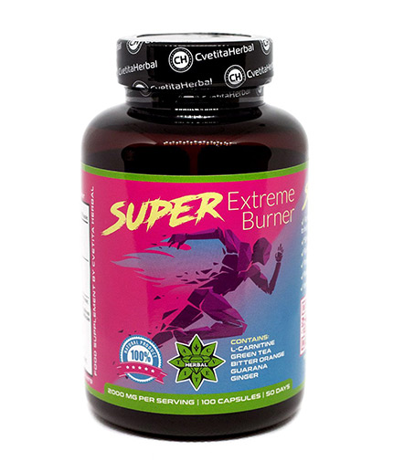 CVETITA HERBAL Super Extreme Burner 1000mg / 100 Caps