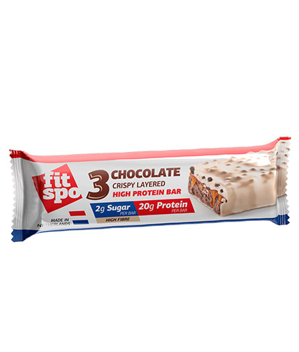 FIT SPO 3 Chocolate Crispy Layered High Protein Bar / 55g