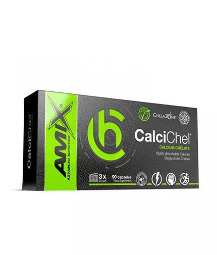 AMIX ChelaZone® CalciChel® Calcium Bisglycinate Chelate / 90 Vcaps