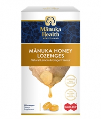 MANUKA HEALTH MGO™400+ Manuka Honey Lozenges with Ginger & Lemon / 15 Lozenges