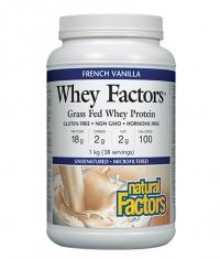 NATURAL FACTORS 100% Natural Whey Protein / French Vanilla