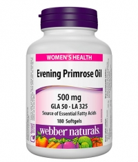 WEBBER NATURALS Evening Primrose Oil 500 mg / 180 Softgels