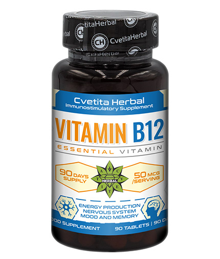 CVETITA HERBAL Vitamin B12 / 90 Tabs