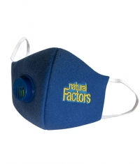 NATURAL FACTORS Face Mask / Navy Blue