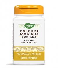 NATURES WAY Calcium, Magnesium and Vitamin D / 100 Caps