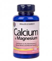HOLLAND AND BARRETT Calcium & Magnesium / 100 Caps