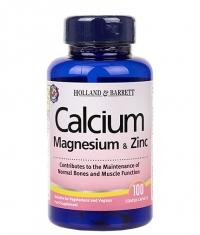 HOLLAND AND BARRETT Calcium Magnesium & Zinc / 100 Tabs