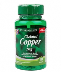 HOLLAND AND BARRETT Chelated Copper 2 mg / 100 Tabs