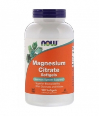 NOW Magnesium Citrate / 180 Softgels