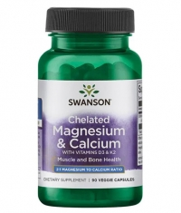 SWANSON Albion Magnesium & Calcium with Vitamins D3 & K2 / 90 Caps