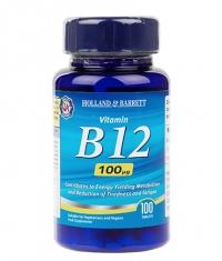 HOLLAND AND BARRETT Vitamin B12 Cyanocobalamin 100 mcg / 100 Tabs