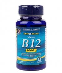 HOLLAND AND BARRETT Vitamin B12 Cyanocobalamin 1000 mcg / Timed Release / 100 Tabs