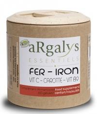 ARGALYS ESSENTIELS Iron + Vitamin C + B9 + Carrot / 60 Caps