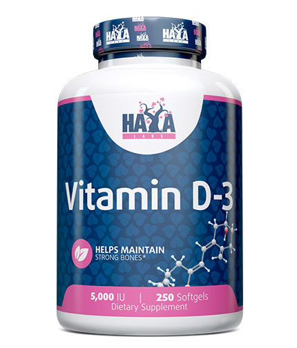 HAYA LABS Vitamin D-3 / 5000 IU / 250 Softgels