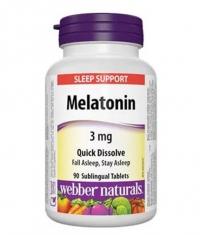 WEBBER NATURALS Melatonin 3 mg Quick Dissolve / 90 Tabs