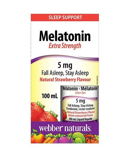 WEBBER NATURALS Melatonin Extra Strength 5 mg / 100 ml