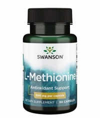 SWANSON 100% Pure L-Methionine 500 mg / 30 Caps