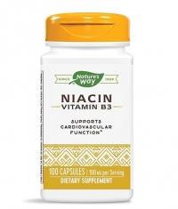 NATURES WAY Niacin / Vitamin B3 / 100 mg / 100 Caps