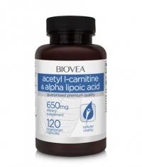 BIOVEA Acetyl L-Carnitine + Alpha Lipoic Acid 650 mg / 120 Caps