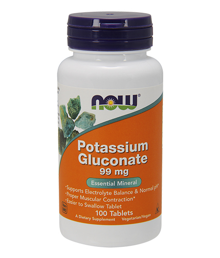 NOW Potassium Gluconate 99mg. / 100 Tabs.