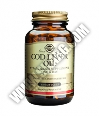 SOLGAR Cod Liver Oil / 100 Soft.