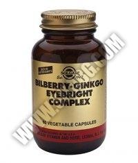 SOLGAR Bilberry Ginkgo Eyebright Complex 60 Caps.