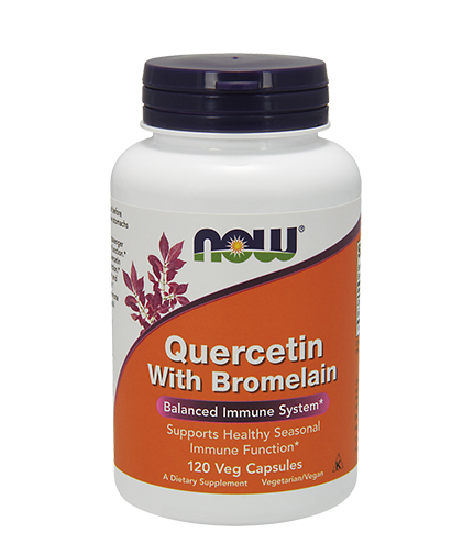 NOW Quercetin with Bromelain 120 VCaps.