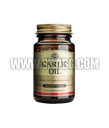 SOLGAR Garlic Oil, Reduced Odour / 100 Soft.