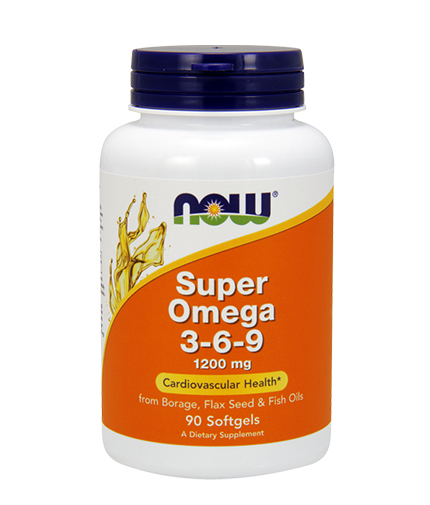 NOW Super Omega 3-6-9 / 1200mg. / 90 Softgels