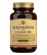 SOLGAR Magnesium + Vitamin B6 100 Tabs.