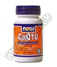 NOW CoQ10 w/Omega 3 Fish Oils 60mg. / 30 Softgels