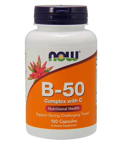 NOW Vitamin B-50 Complex with 250mg. Vitamin C / 100 Caps.