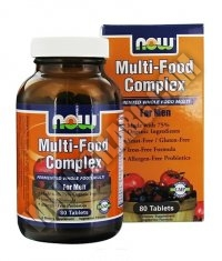 NOW Multi-Food Complex for Men 80 Tabs.