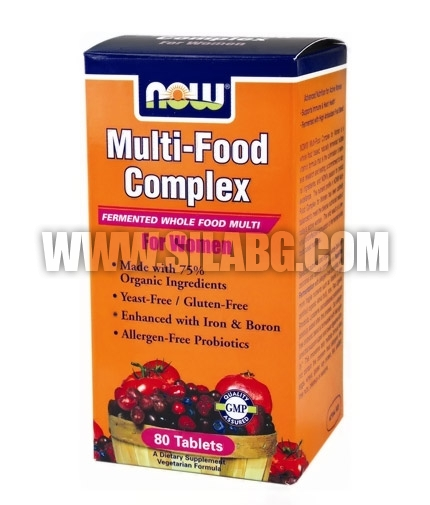 NOW Multi-Food Complex for Women 80 Tabs.