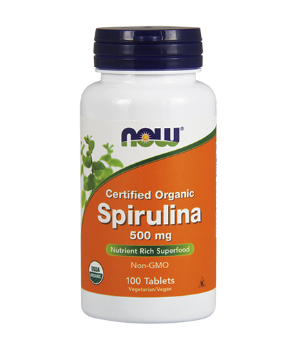 NOW Spirulina Organic 500mg. / 100 Tabs.