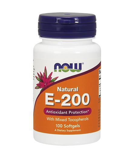 NOW Vitamin E-200 IU /Mixed Tocopherols/ 100 Softgels