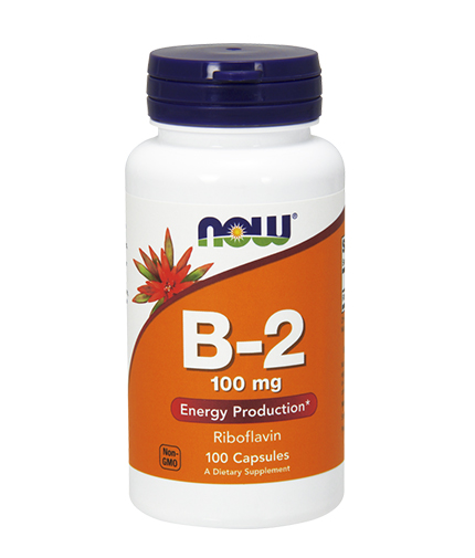 NOW Vitamin B-2 /Riboflavin/ 100mg. / 100 Caps.