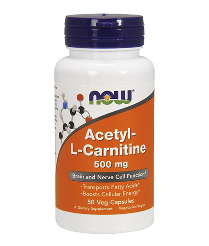 NOW Acetyl L-Carnitine 500mg. / 50 VCaps.