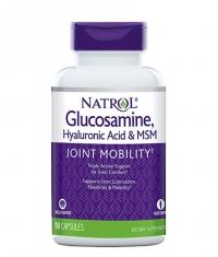 NATROL Hyaluronic Acid MSM Glucosamine 90 Caps.